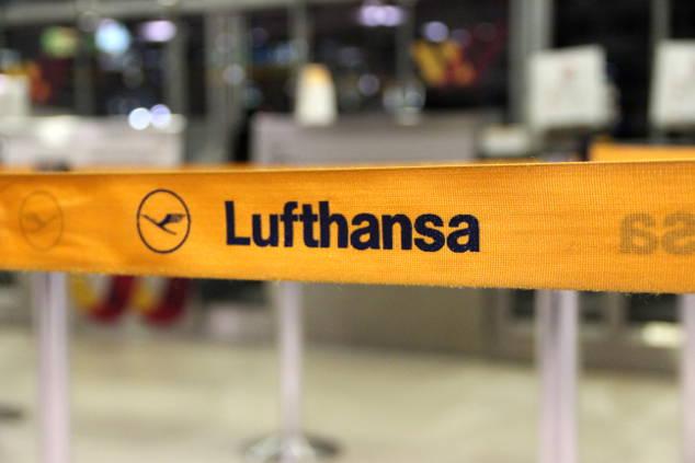 Vorabend Check-In bei Lufthansa