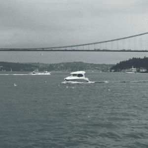 Uber-Boat auf dem Bosporus bei Istanbul
