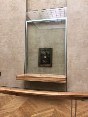 La Gioconda (Mona Lisa) hinter Glas
