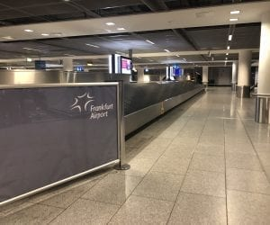 Gepäck-Abfertigung am Flughafen Frankfurt