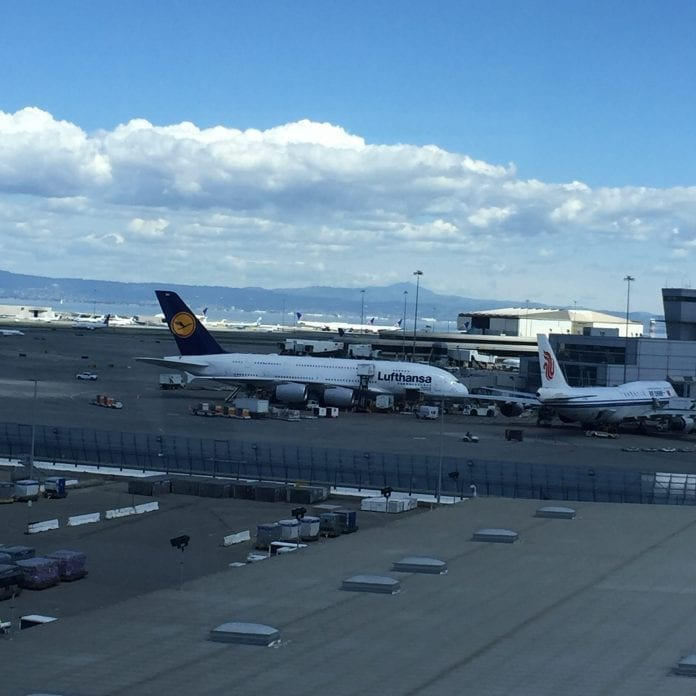 A380 at SFO