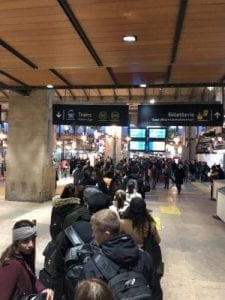 Schlange vor dem Thalys am Gare du Nord