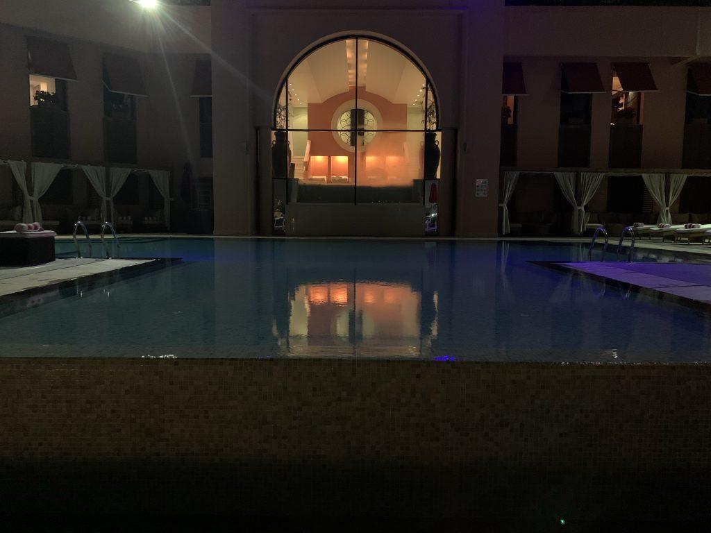 Sofitel Cairo Pool at night