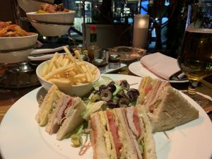 sofitel cairo window on the nile lounge and bar club sandwich