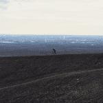 Mountainbiker auf der Halde Haniel
